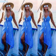 Летнее женское платье 2019 сексуальные богемные пляжные платья