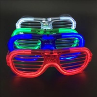 50pcs Neon LED Glasses EL Light Up Shades Flashing Luminous Rave Night Christmas Activities Wedding Birthday Party Decoration