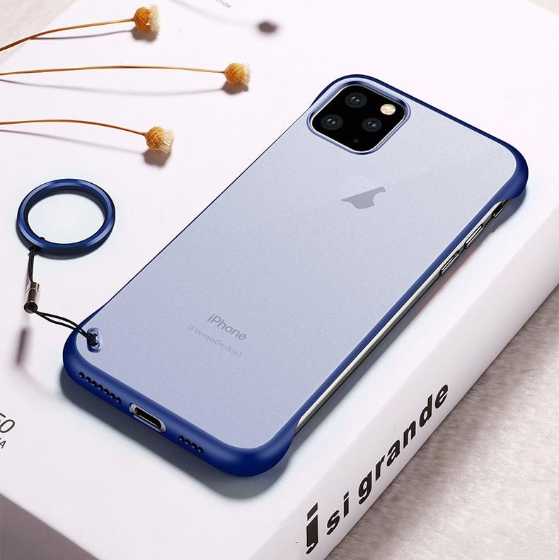 Frameless Slim Matte Hard Back Cases for iPhone 11/11 Pro/11 Pro Max 14