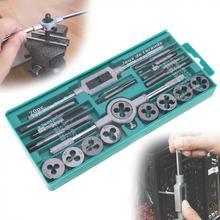 Grifo y Die Set métrico de acero de aleación, herramienta de roscado de acero de aleación de 20 piezas con estuche de almacenamiento para metalúrgico, M3 M12/32 Uds.