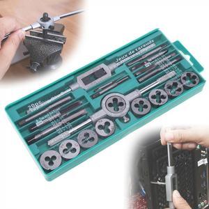 Image 1 - Zestaw gwintowników metrycznych ze stali stopowej 20 sztuk/32 sztuk M3 M12 narzędzie do gwintowania stali stopowej z futerał do przechowywania do obróbki metalu