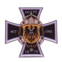 Немецкая булавка на лацкан с металлическим орлом, 1870, Deutschland Рейх, знак унификации, Бог с крестом США, брошь для мужчин, патриотический подарок