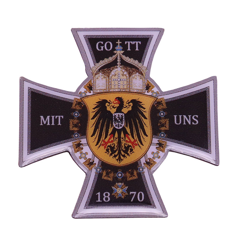 German Federal eagle lapel pin 1870 Deutschland Reich unification badge God with us cross brooch men patriotic gift|Brooches|   - AliExpress