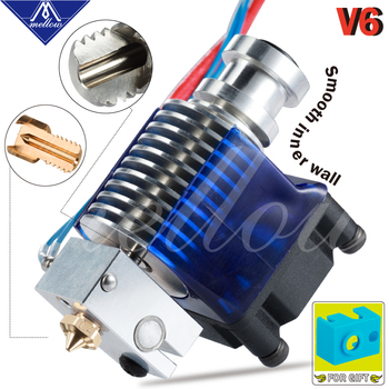 Mellow Top Quality All Metal V6 J-head Hotend Bowden Extruder Kit For E3d V6 Hotend Cooling Fan Bracket Block 3D Printers Parts 3d printer parts cyclops 2 in 1 out 2 colors hotend 0 4 1 75mm 12v 24v fan bowden with titan bulldog extruder multi color nozzle