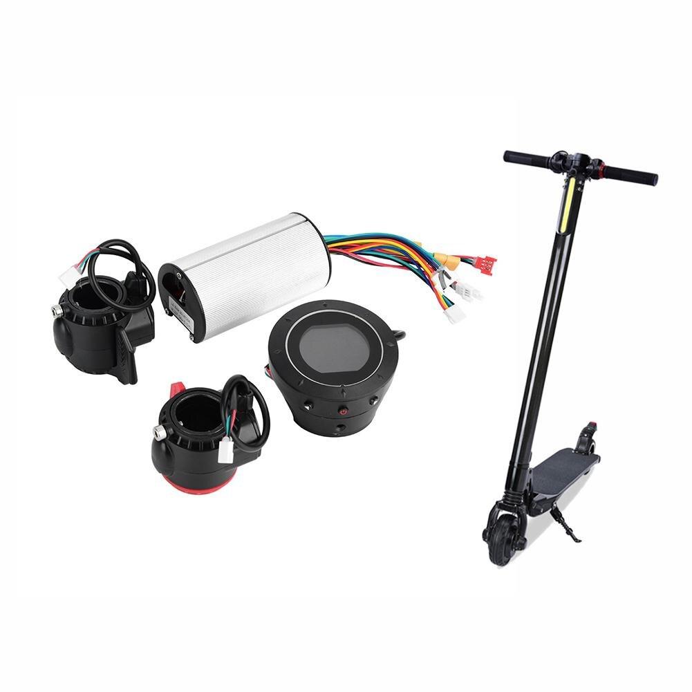 Spor ve Eğlence'ten Elektrikli Bisiklet Aksesuarları'de Karbon Fiber elektrikli Scooter denetleyici fren lcd ekran elektrikli bisiklet aksesuarları malzemeleri title=