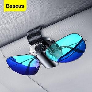 Image 1 - Baseus voiture lunettes de soleil support lunettes de soleil pince Auto lunettes de soleil organisateur voiture lunettes de soleil stockage lunettes support support lunettes étui
