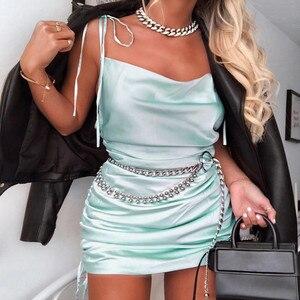 Fashion Women's Sexy Slim Camisole Low-Cut Sleeveless Open Back Dress Club Dress summer dress robe femme vestidos женское платье