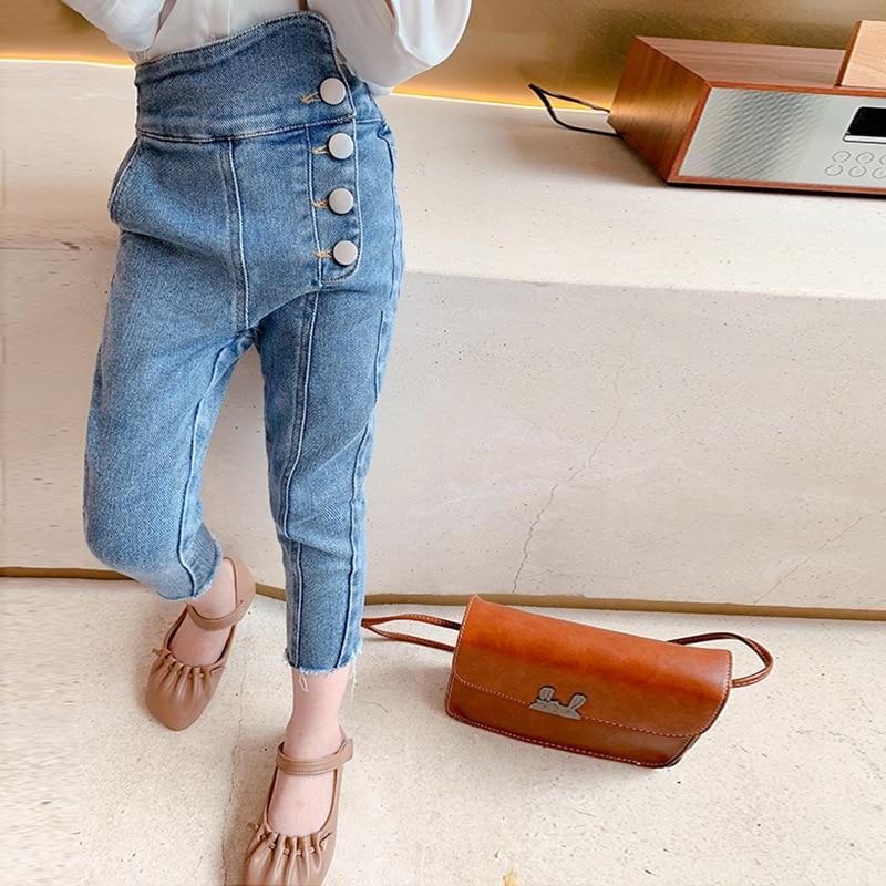 Осень 2020, Новое поступление, модные джинсовые брюки для девочек, детские джинсовые брюки, детские джинсы для девочек|Джинсы| | АлиЭкспресс