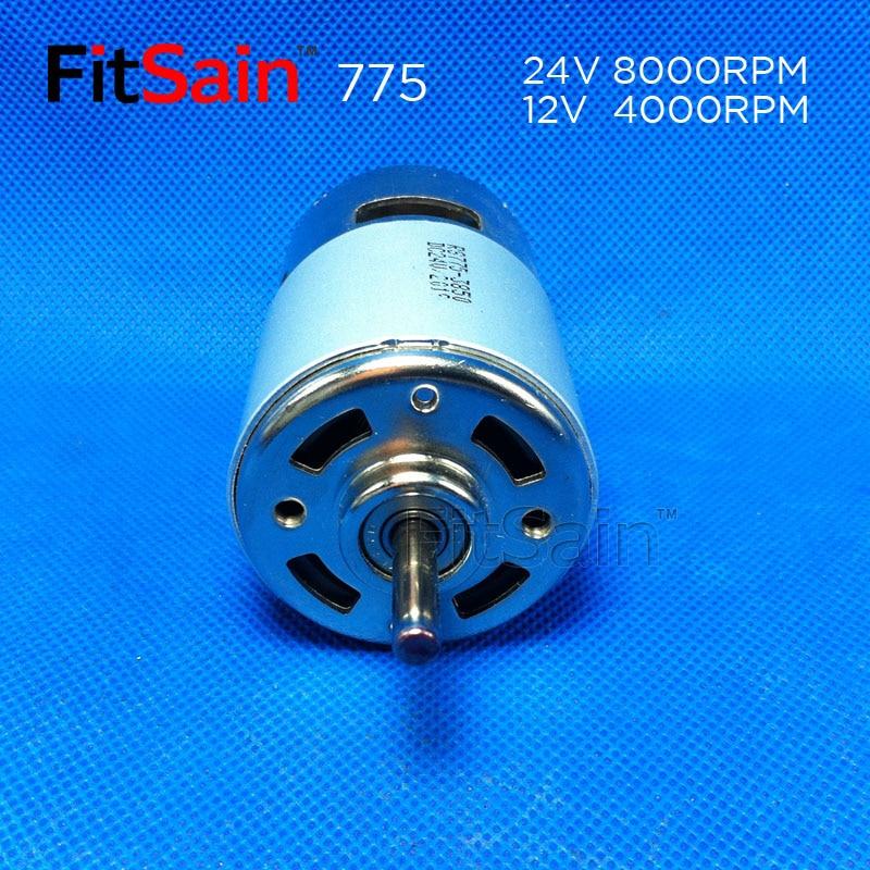 FitSain - DC 24V 8000rpm 775 albero motore 5mm Coppia elevata ad alta - Accessori per elettroutensili - Fotografia 3