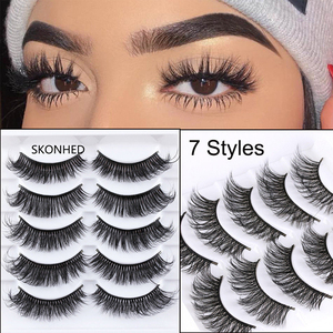 Eyelashes 5Pcs 3D imitation ha