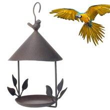 Кормушка для домашних птиц, железная станция для кормления птиц, подвесной садовый корм для птиц, диспенсер для кормушек, уличные украшения сада, кормушки для птиц