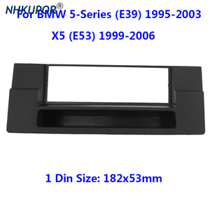 Image 1 - 1 Din FasciaสำหรับBMW 5 Series (E39) X5 (E53) วิทยุCD GPS DVDสเตอริโอDashboardแผงติดตั้งกรอบชุด