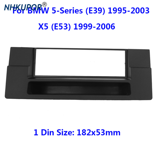 1 Din FasciaสำหรับBMW 5 Series (E39) X5 (E53) วิทยุCD GPS DVDสเตอริโอDashboardแผงติดตั้งกรอบชุด