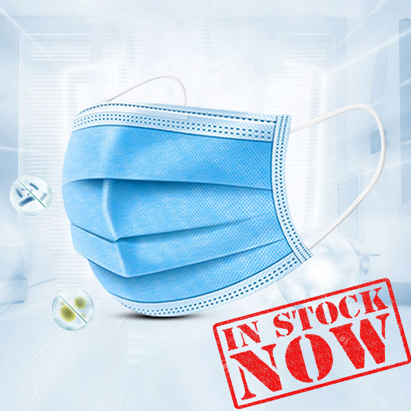 In Stock Face Mask 5/10/20/30/50Pcs/lot 3 Layers Disposable Masks Dust-proof Sterile Hygienic Portable Non Woven Anti-Dust Mask