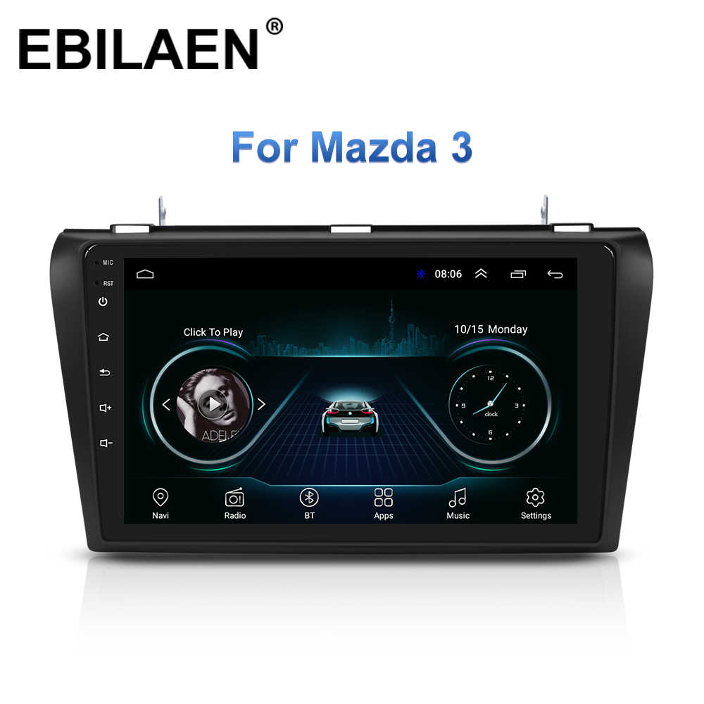 Rádio multimídia automotivo, rádio multimídia automotivo com gravador de vídeo, para mazda 3 bk mazda3 2004-2009, android 8.1 estéreo,