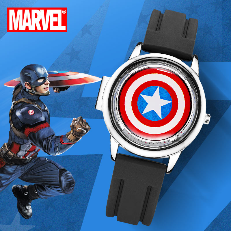 Disney Marvel Avengers Super Hero Iron Men Spider Man Children Quartz Waterproof Flip Watches For Kid Student Clock Boy Gift