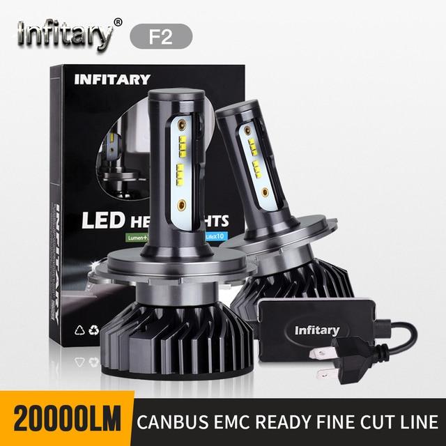 2 Chiếc H4 H7 LED Đèn Pha Bóng Đèn Xi Nhan Canbus Siêu Sáng 16000Ml ZES Chip H1 H3 H11 H27 880 HB3 9005 9006 9007 6500K Tự Động Đèn Sương Mù