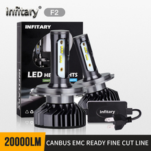 2 adet H4 H7 LED far ampulü Canbus süper parlak 16000ml ZES cips H1 H3 H11 H27 880 HB3 9005 9006 9007 6500K otomatik sis lambası