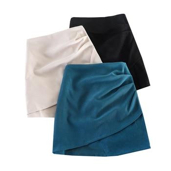 High Waist Women Skirt Vintage Mini A-Line Skirts Elegant Solid Bodycon Skirt Temperament Casual Female Skirts Free Shipping цена 2017