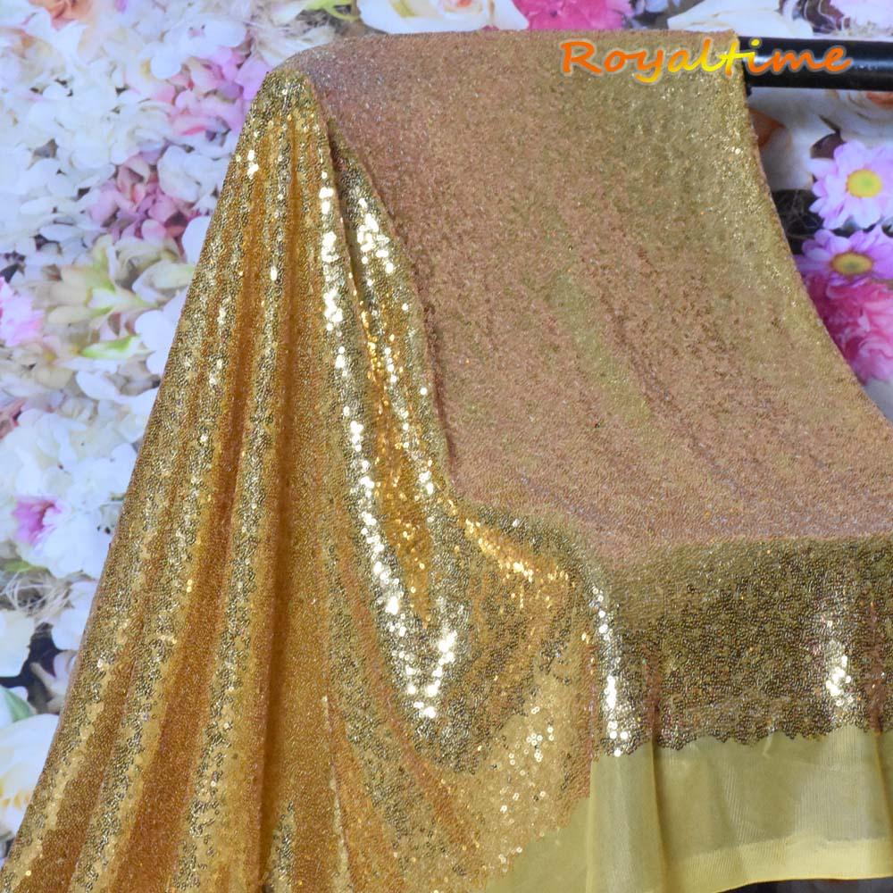 Gold Sequin Fabric 002