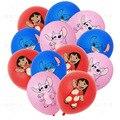 10 шт./12 шт/15 шт. Лило и Стич День рождения латексные шары для День рождения украшения Baby Shower воздушный шар Globos поставки