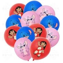 10 pces/12 pces/15 pces lilo & stitch festa de aniversário látex balões crianças festa de aniversário decoração do chuveiro do bebê balão globos suprimentos