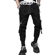 Men's Hip Hop Punk Overalls Casual Pants Fashion Design Long Pants Streetwear Harajuku Slim Fit Stylish Men's Jogger Trouser