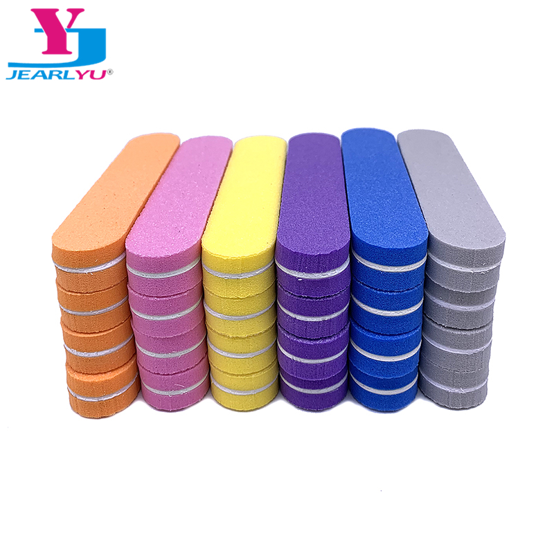 120Pcs/lot Nail File Choose Buffer Block 100/180 Washable  Grinding Polishing Portable Beauty Professional Manicure Strong Thick