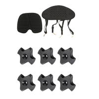 6pcs Nylon Deck Line Guide & Non slip Seat Padded Back Cushion Replacement