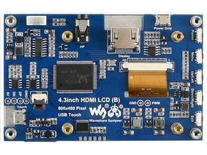 Image 5 - 4.3 cala, 800x480, pojemnościowy ekran dotykowy, interfejs HDMI, obsługuje wiele mini komputerów/wielu systemów, IPS , 4.3 cala HDMI LCD (B)