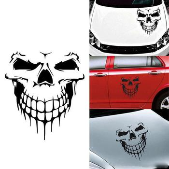 Car Sticker and Decals Reflective Skull Skeleton Car Hood Decal Rear Vinyl Side Door Sticker For Auto Door Window Decal spider web hood rear window auto car vinyl decal stickers