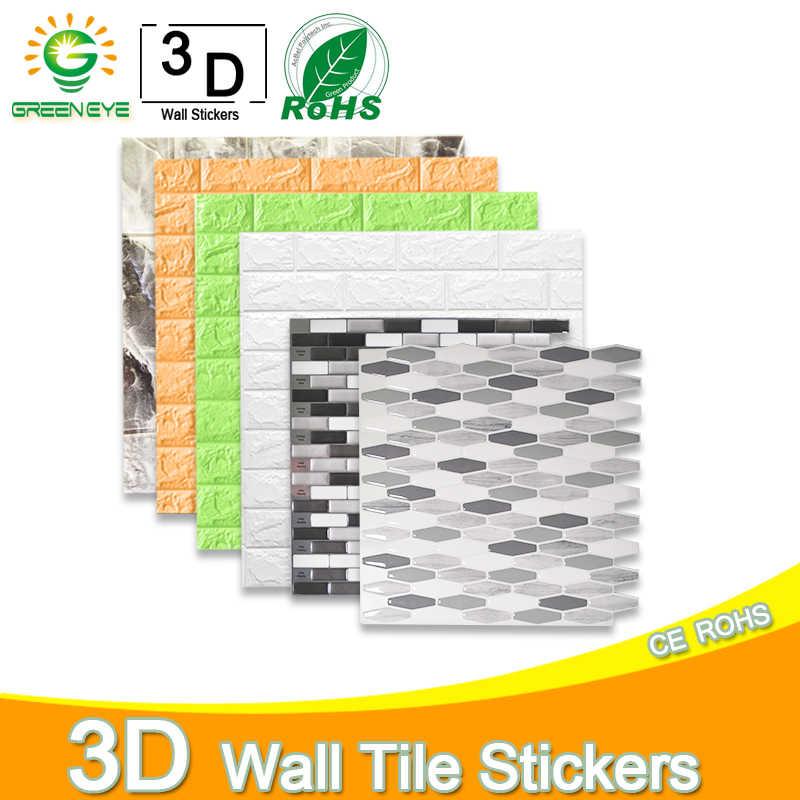 3d papel de parede diy mármore adesivo adesivos à prova dwaterproof água adesivos de parede à prova d3d água para o quarto das crianças 3d auto-adesivo papel de parede tijolo