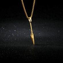 Мужской кулон в виде копья из нержавеющей стали золотистого