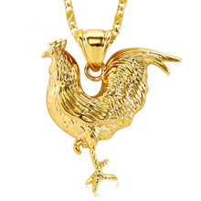 Nova moda colar de frango para mulheres moda galo pingente de corrente colar de jóias gallo medalla con cadena de oro