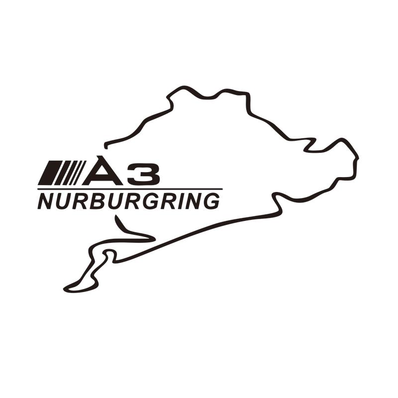 PEGATINA NURBURGRING AUDI S LINE VINYL DECAL VINYL STICKER AUTOCOLLANT