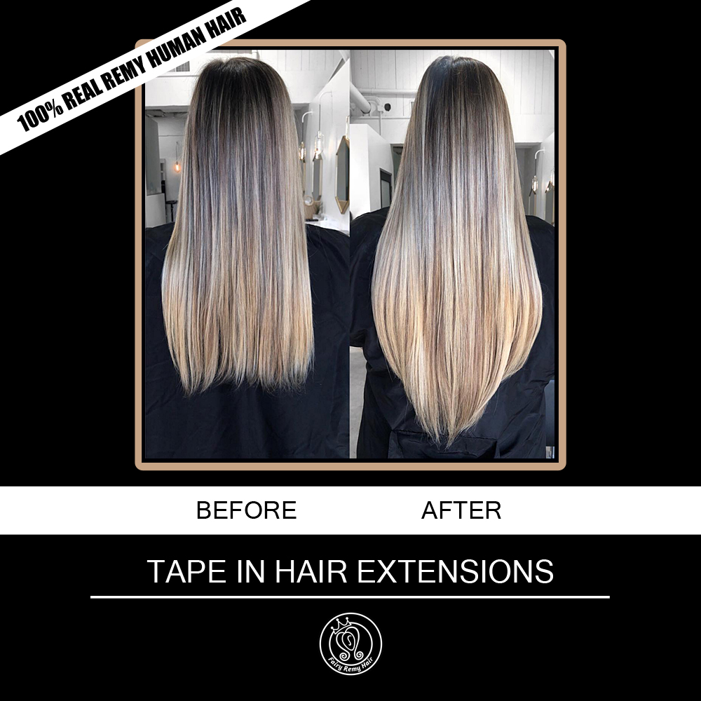 Tape In Real Remy Human Hair Extensions 2.5g/piece 16 18 20 22 Inch European Platinum Blonde Color Adhesive Hair Extension 20pc