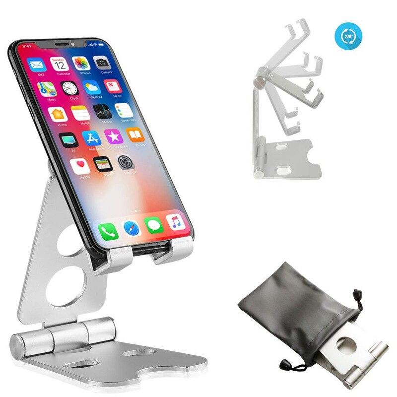 Mobile Phone Holder Stand For Phone Aluminum Alloy Bracket Universal Desktop Holder For  Tablet 270 Degree Adjustable Bracket