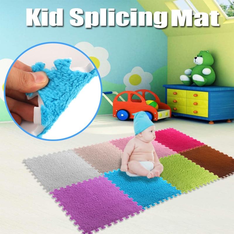 10 Pcs/Bag 30*30cm EVA Stitching Carpet Bedroom Living Room Children Kid Soft Carpet Splice Jigsaw Interlocking Exercise Floor