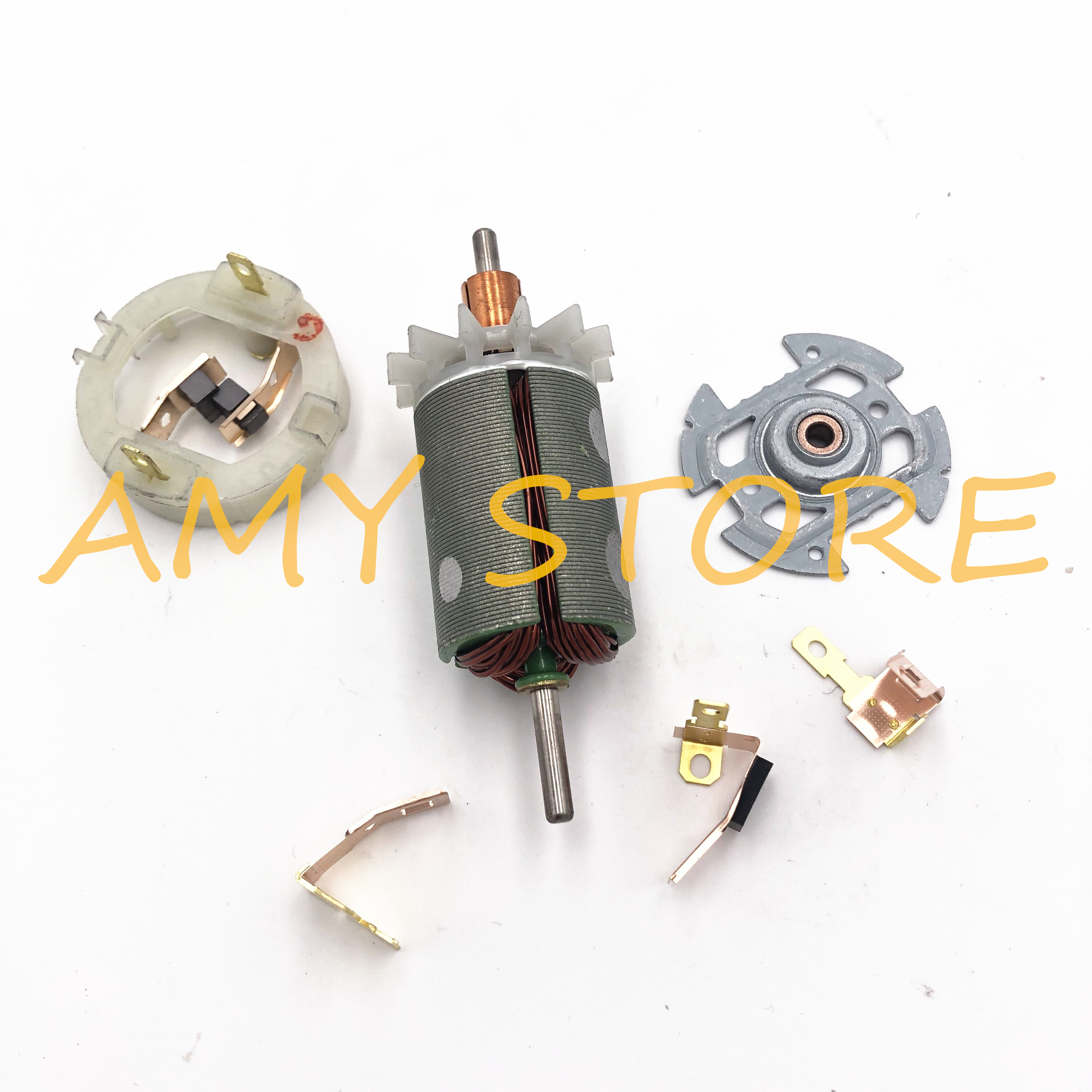 RS540 545 550 555 Motor Rotor Carbon Brush Holder End Cap Cover Replace For 12VDC Cordless Screw Driver Drill