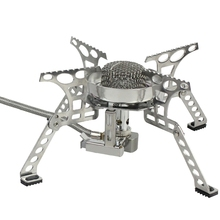 цена на Camping Gas Burners Windproof 3500W Remote Gas Stove Outdoor Fire Stove