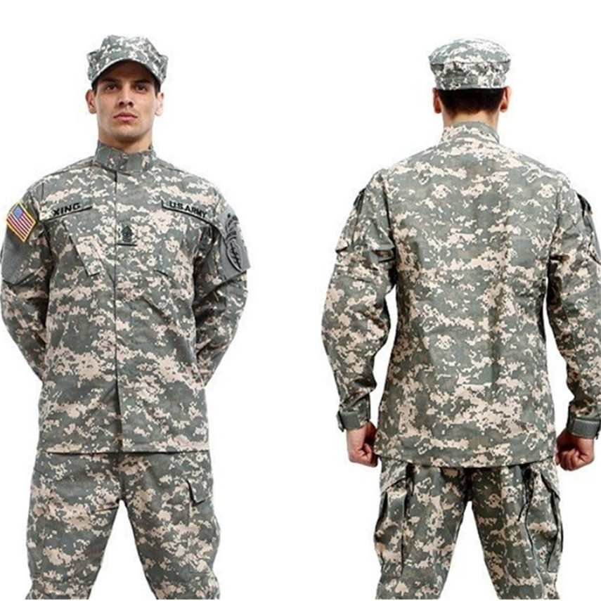 10Color Military Uniform Men Army Tactical Special Forces ACU Militar Soldier For Man Combat Clothes Pant Set Camouflage Uniform