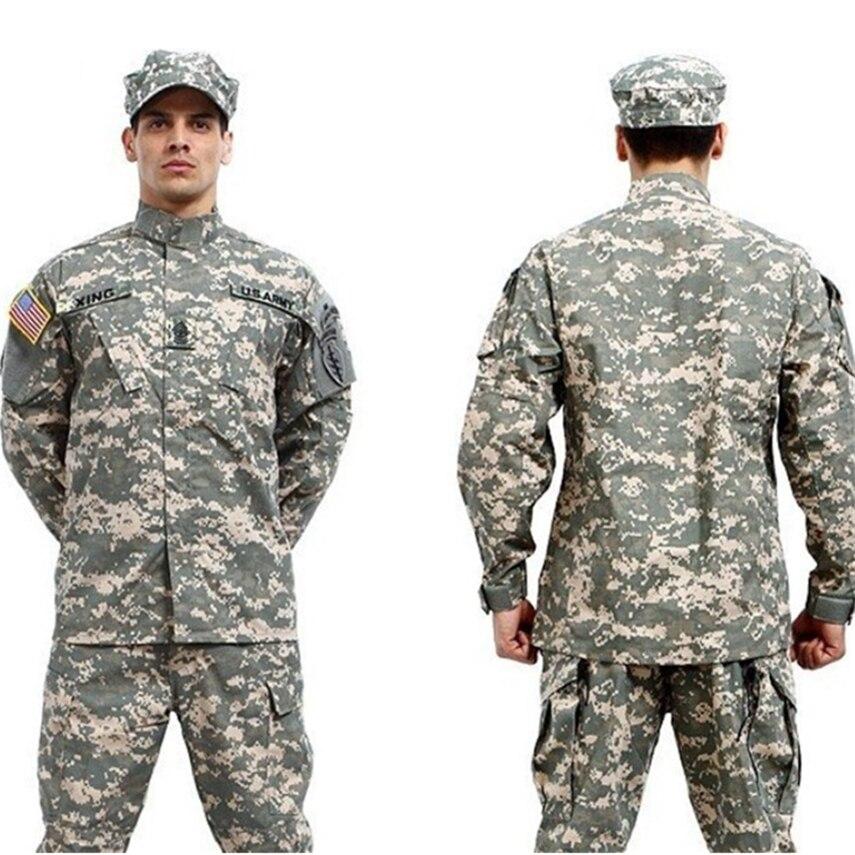 10Color Military Uniform Men Army Tactical Special Forces ACU Militar Soldier For Man Combat Clothes Pant Set Camouflage Uniform