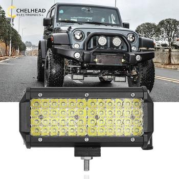 6000K DRL luz Led de conducción diurna 144W 7 ''funcionamiento automático iluminación Led Barra de luz para SUV todoterreno 4x4 autobús remolque Coche