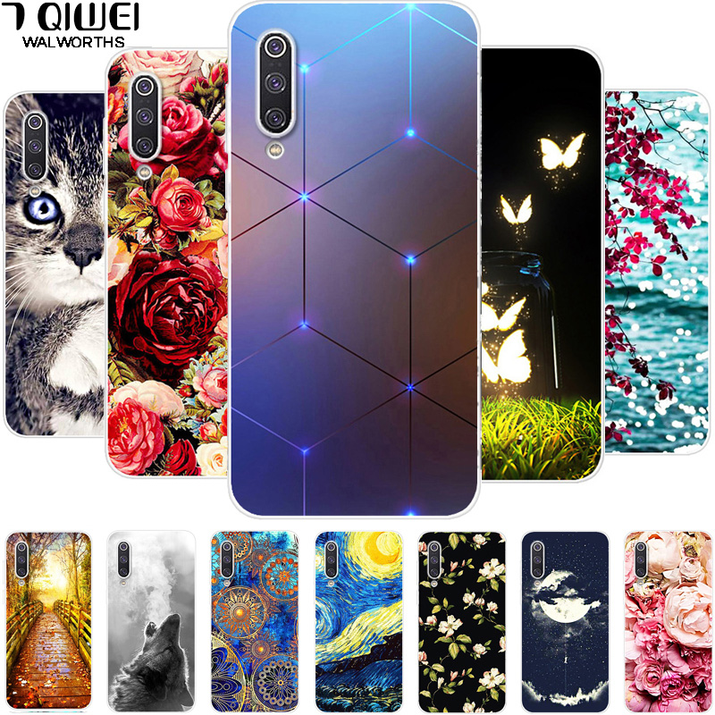 For Xiaomi Mi A3 Case  Phone Cover Silicone Soft Tpu Cute Back Cases For Xiaomi MI A3 Case MiA3 A 3 Coque For Xiaomi A3 Animal