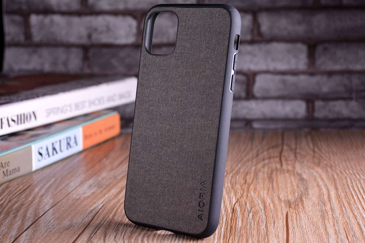 Luxury Textile Leather Skin Soft TPU hard PC Phone Cover for iPhone 11 pro max 12