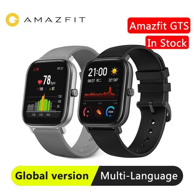Reloj inteligente Huami Amazfit GTS para nadar, reloj inteligente con GPS, control del ritmo cardíaco, resistente al agua hasta 5atm