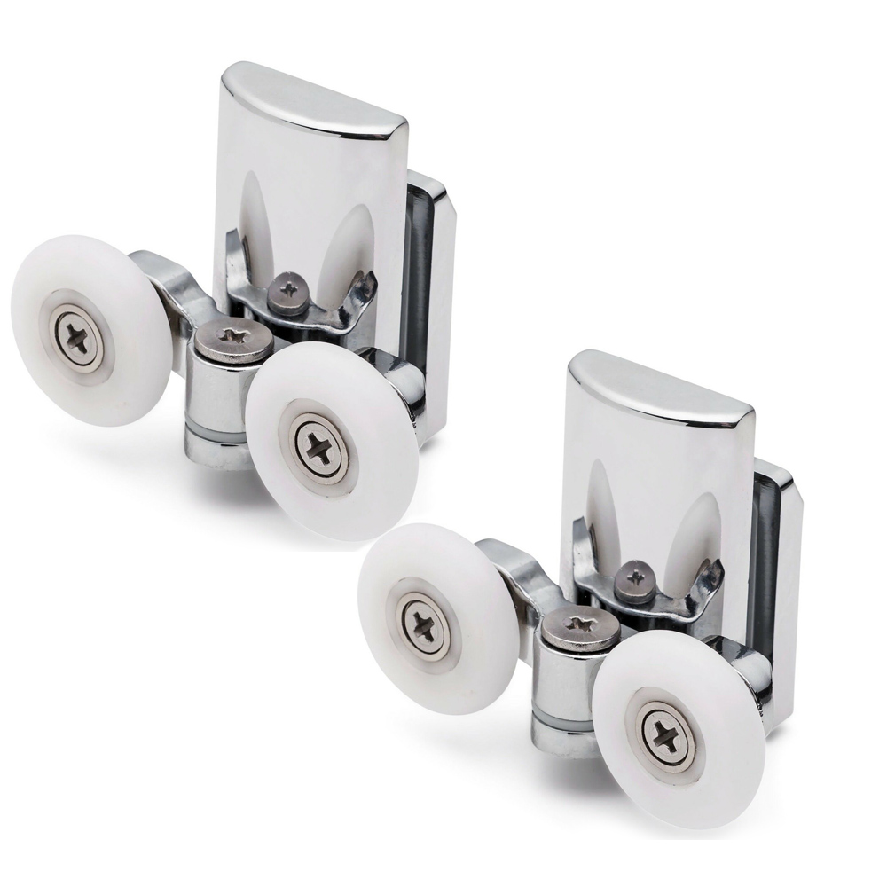 2pcs Double Sliding Shower Door Enclosures Upper Rollers Runners Wheels 23m