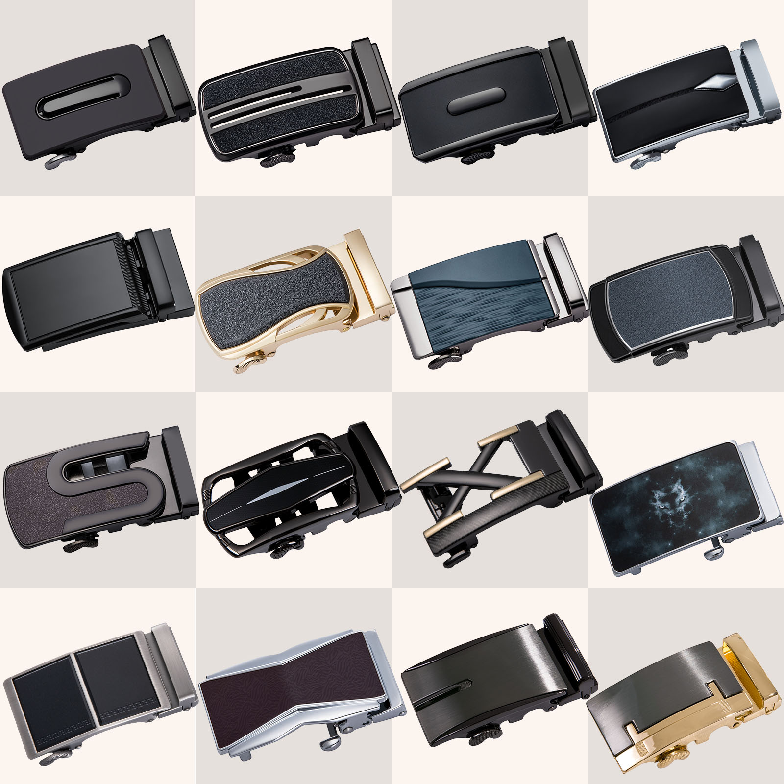Luxury Belt Buckle For Men Automatic Belt Buckle Head Fashion Automatic Buckles For 3.5cm Wide Ratchet Mens Belt Buckle DiBanGu