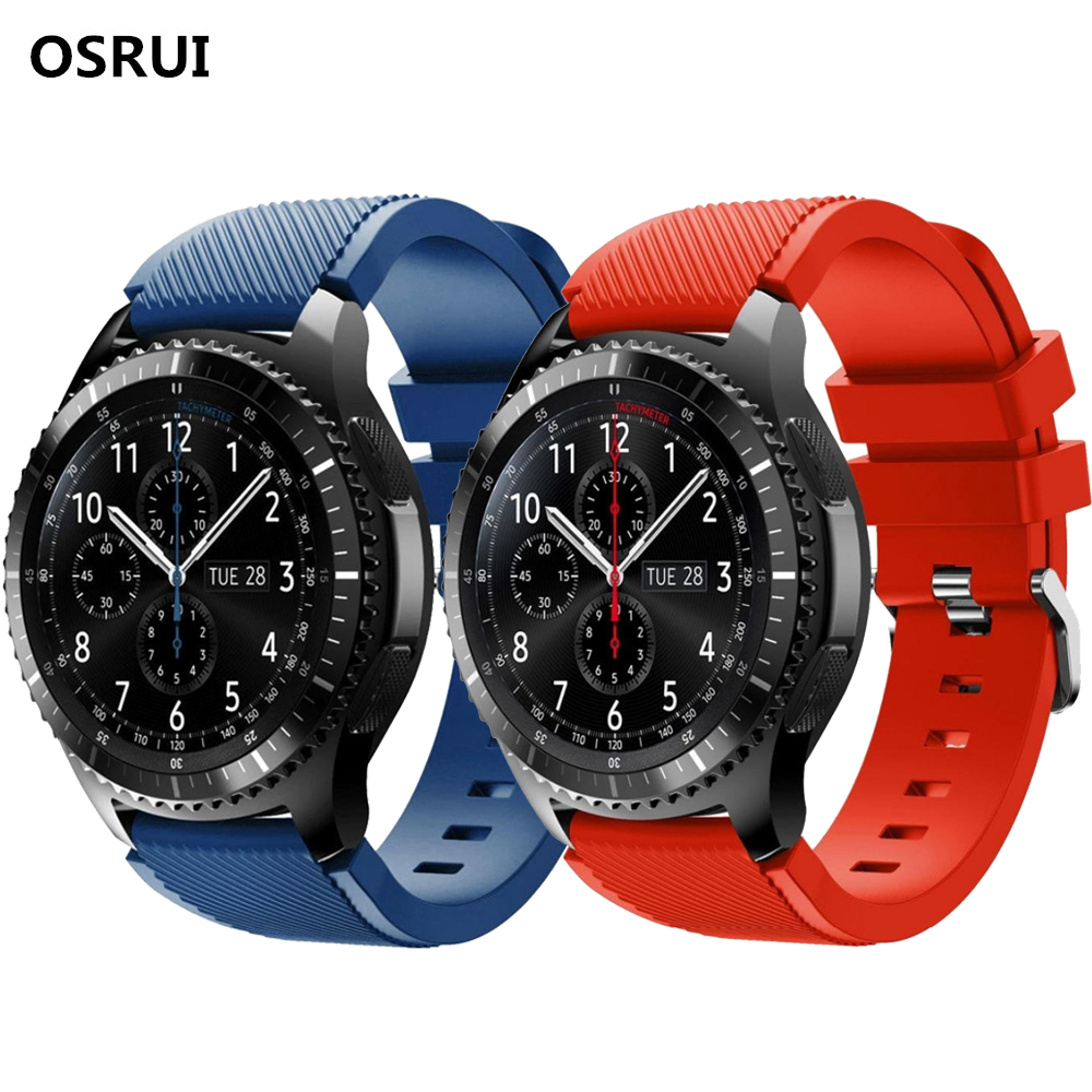 Gear S3 22mm For Samsung Gear Galaxy Watch Band 46mm Frontier/Classic Silicone Strap Wrist Bracelet Samsung Gear S3 Watchband