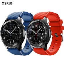 Gear S3 22mm for Samsung Gear Galaxy watch band 46mm Frontier/Classic Silicone strap wrist bracelet Samsung Gear S3 watchband 18 colors rubber wrist strap for samsung gear s3 frontier silicone watch bands 22 mm gear s3 classic replacement bracelet band